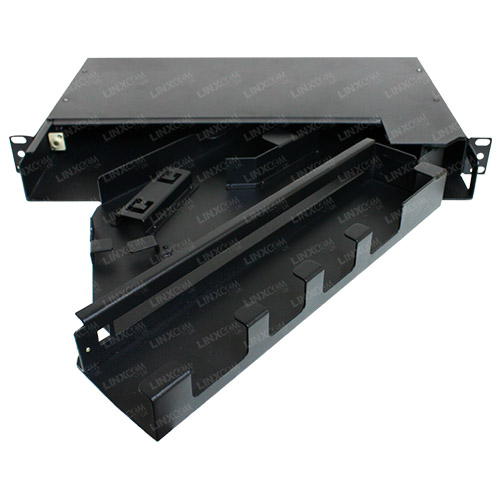 1U FO Pivoting Splitter Panel