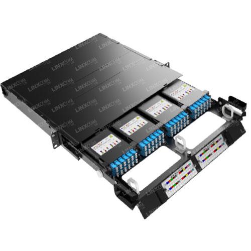 1U MTP LGX 4 Cassette Patch Panel