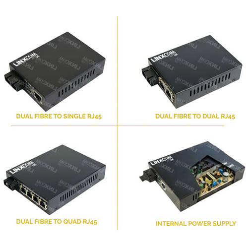 Dual Fibre to RJ45 Media Converter Configurations