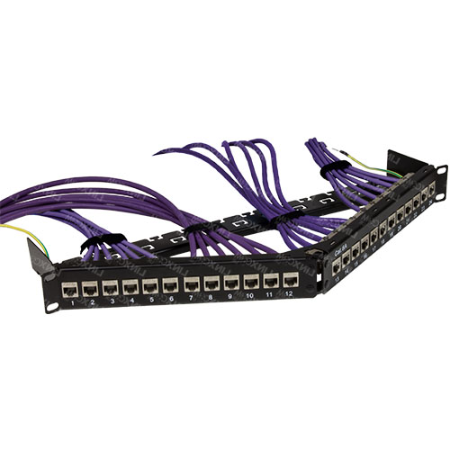 Quicklink STP CAT6A Modular 24 Port Patch Panel