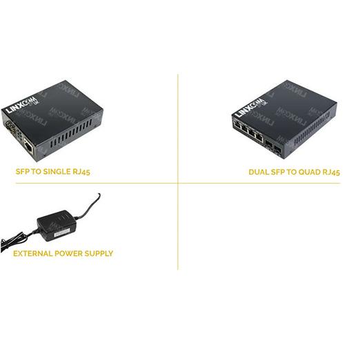 SFP to RJ45 Media Converter Configurations