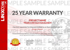 25 Year Warranty Certificate