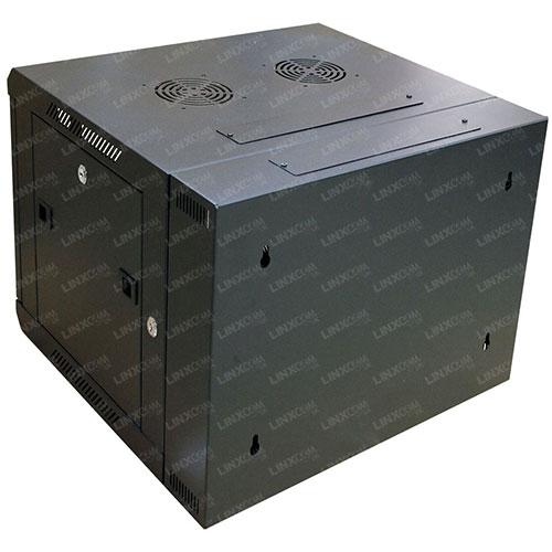 "9U 19"" 600x550mm Double Door Wall Mounted Cabinet Model B Back"