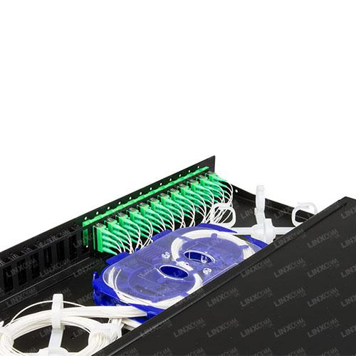 1U Loaded Sliding Patch Panel - SC/DX-LC/QD 24 Port Open