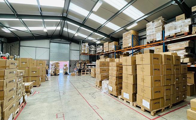 inside of linxcom's warehouse